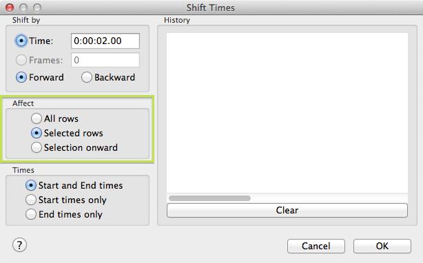 Aegisub Shift Timing